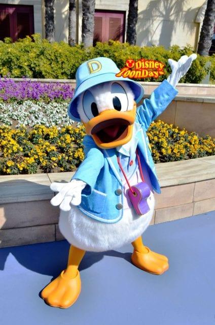 ディズニーシ―プラザのドナルドダック