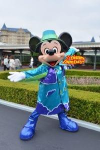 TDL 雨の日エントランスグリーティング ミッキーマウス