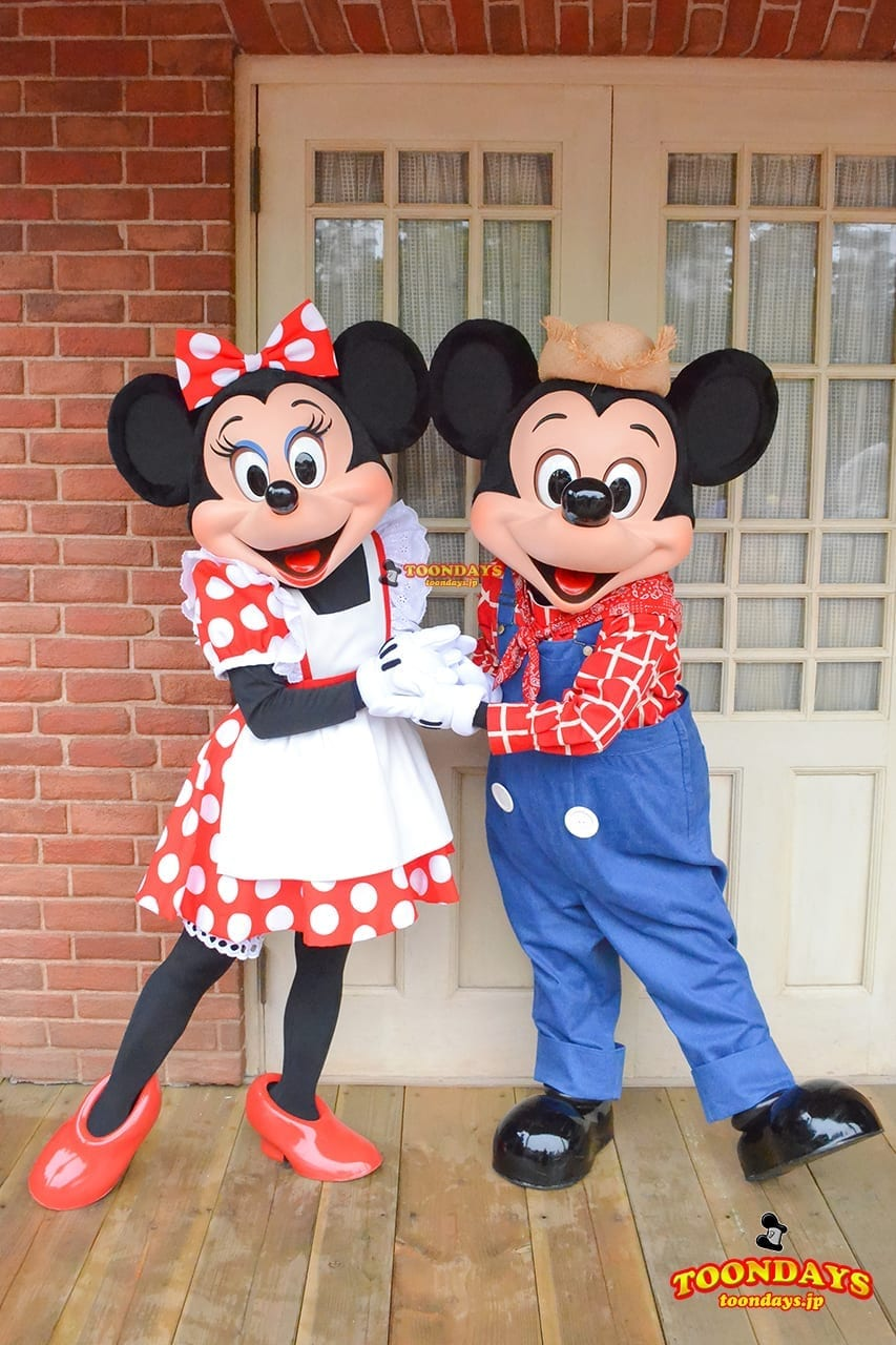 TDL ウエスタンランド グリーティング ミッキーマウス ミニーマウス