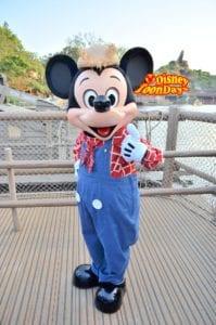 TDL ウエスタンランド グリーティング ミッキーマウス