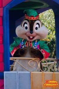 TDL クリスマス・ファンタジー 2014 ディズニー・サンタヴィレッジ・パレード チップ