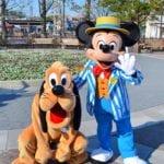 ミッキーとプルートペアグリ!東京ディズニーシー『アメリカンウォーターフロント』グリーティング