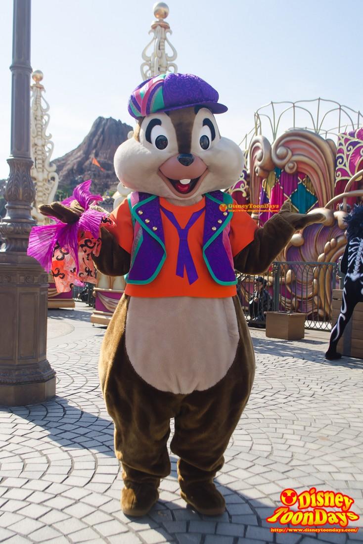 TDS ディズニー・ハロウィーン 2014 ウェルカム・スケルトン・フレンズ チップ
