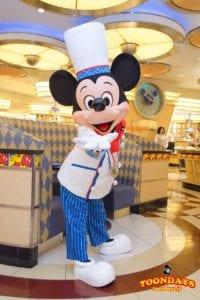 TDR ディズニーアンバサダーホテル シェフミッキー グリーティング ミッキーマウス