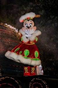 クリスマスの東京ディズニーランド・エレクトリカルパレード・ドリームライツのミニーマウス