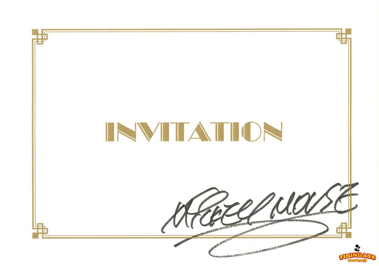 招待状にサインを入れてくれる1