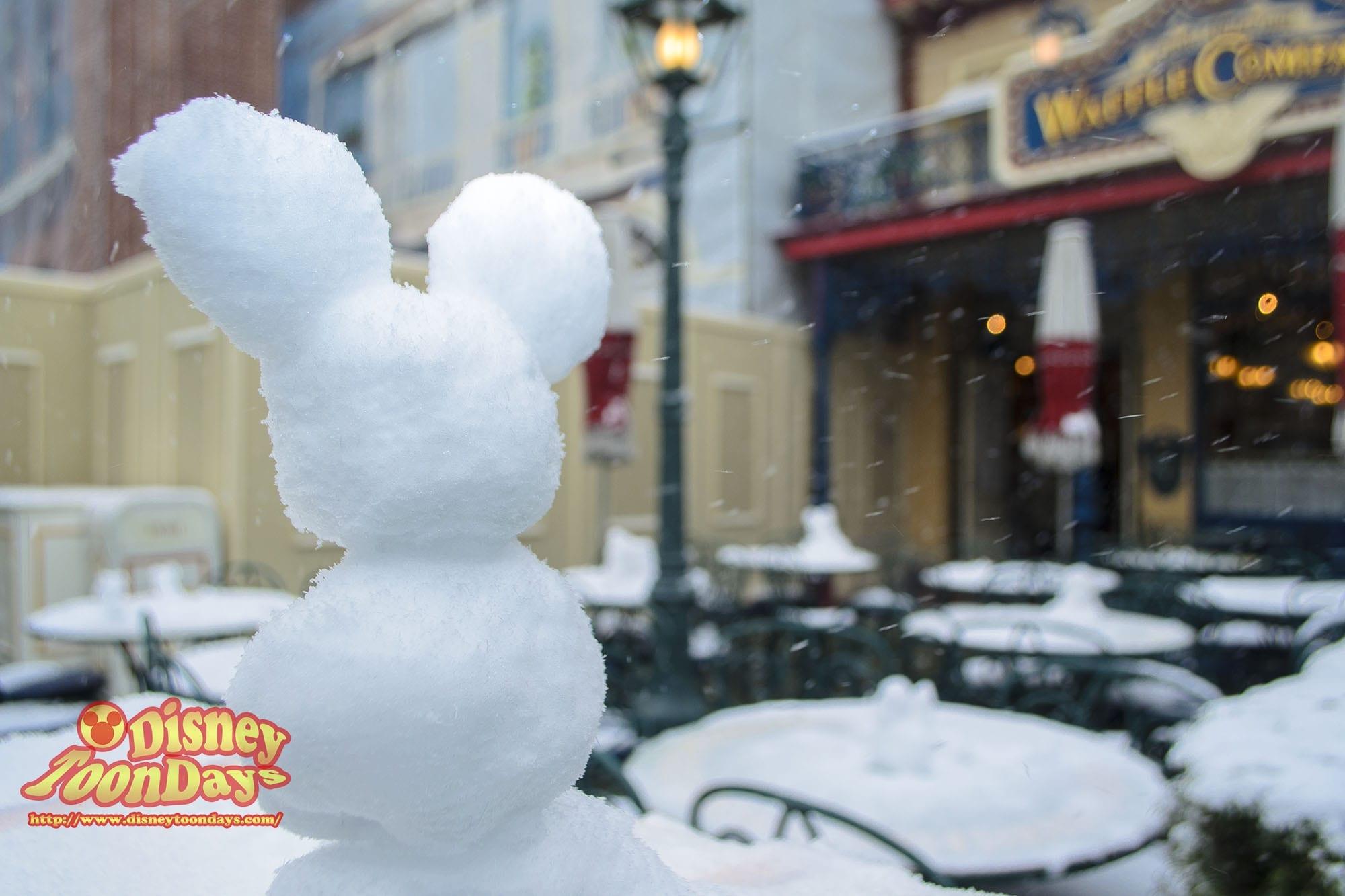 TDL 雪 アドベンチャーランド 雪だるま