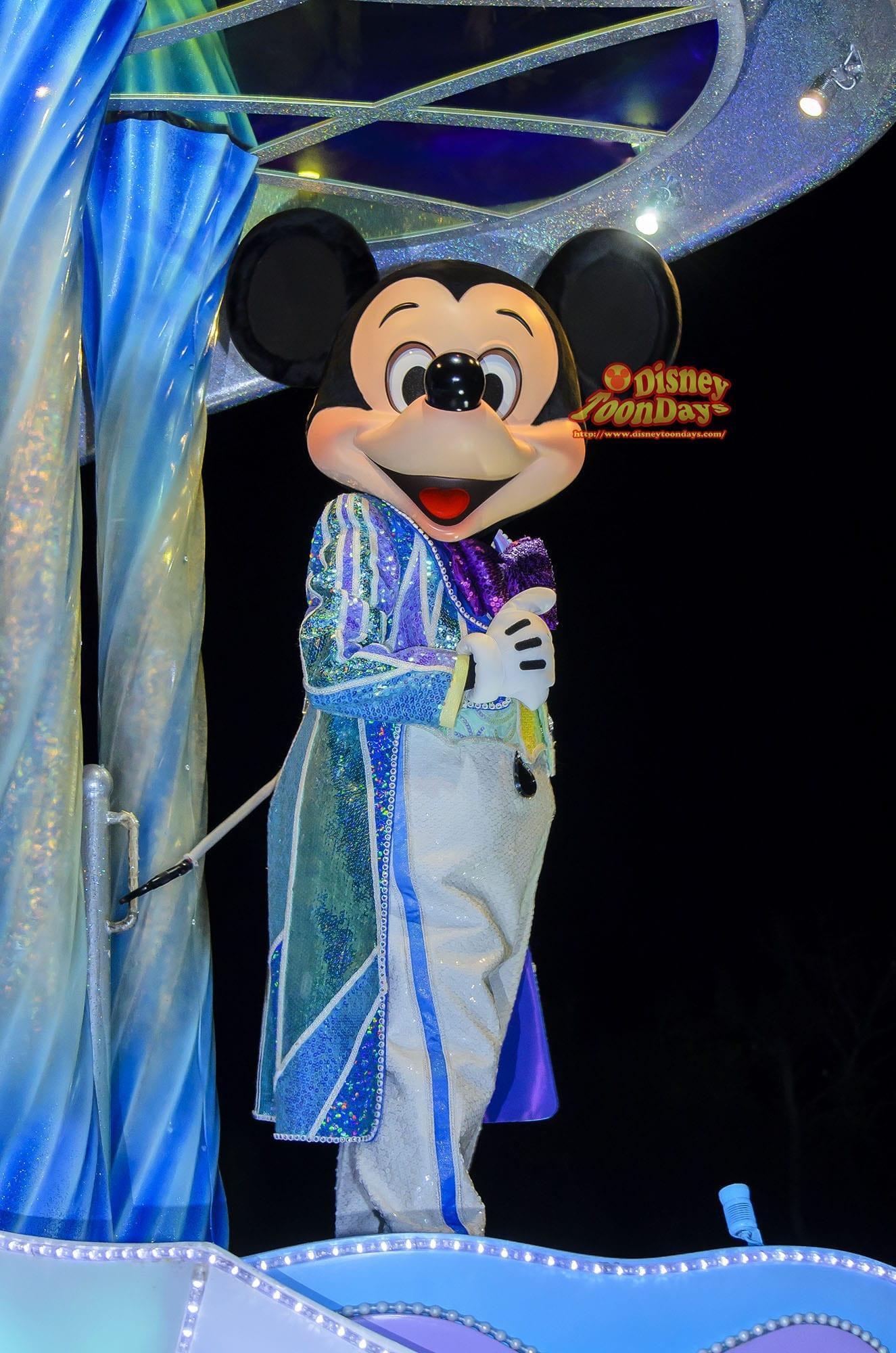 TDL ディズニーJCBカード5周年記念スペシャルナイトat東京ディズニーランド プライベートイブニングパーティー ナイトフォールグロウ ミッキーマウス