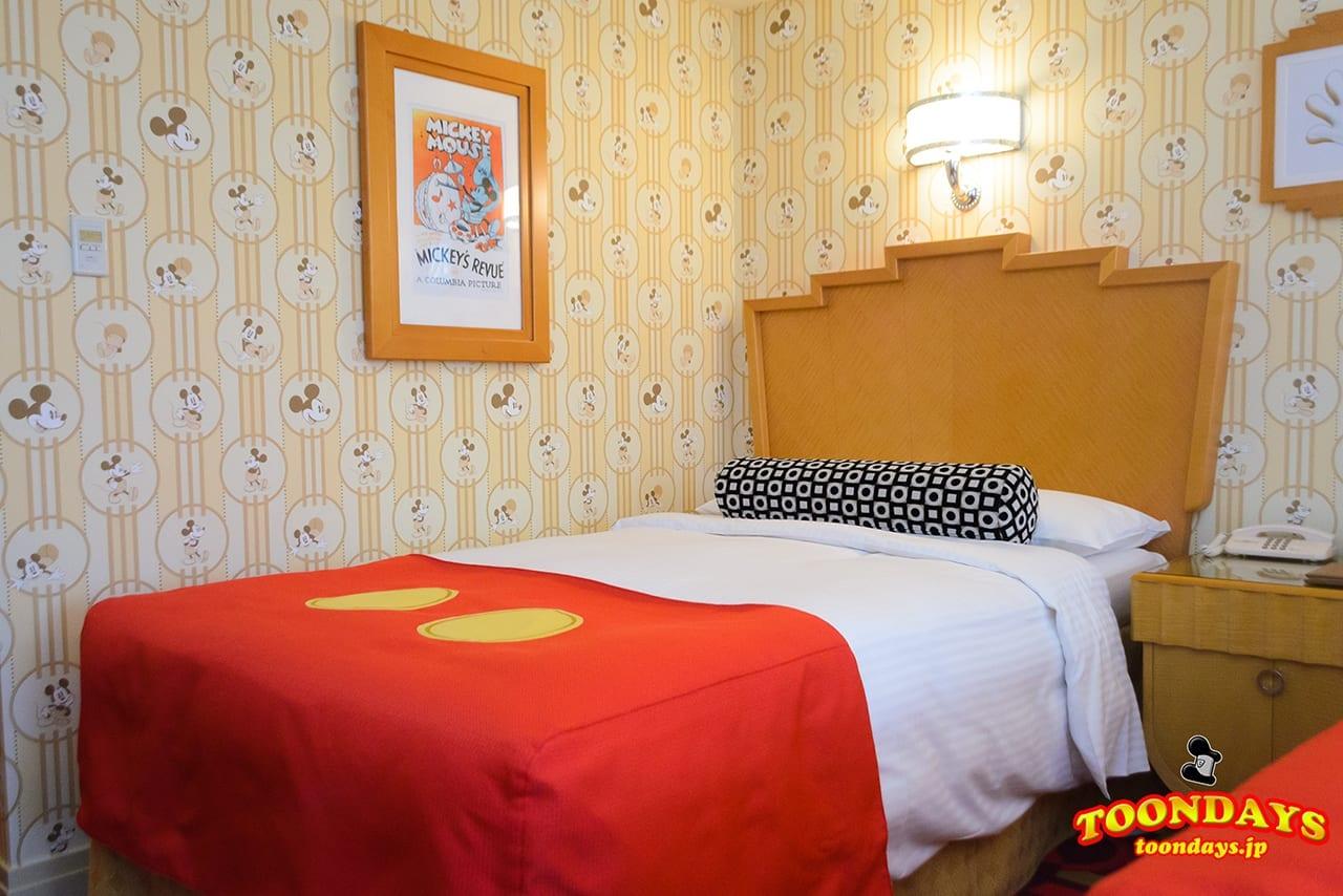TDR ディズニーアンバサダーホテル ミッキーマウスルーム ベッド