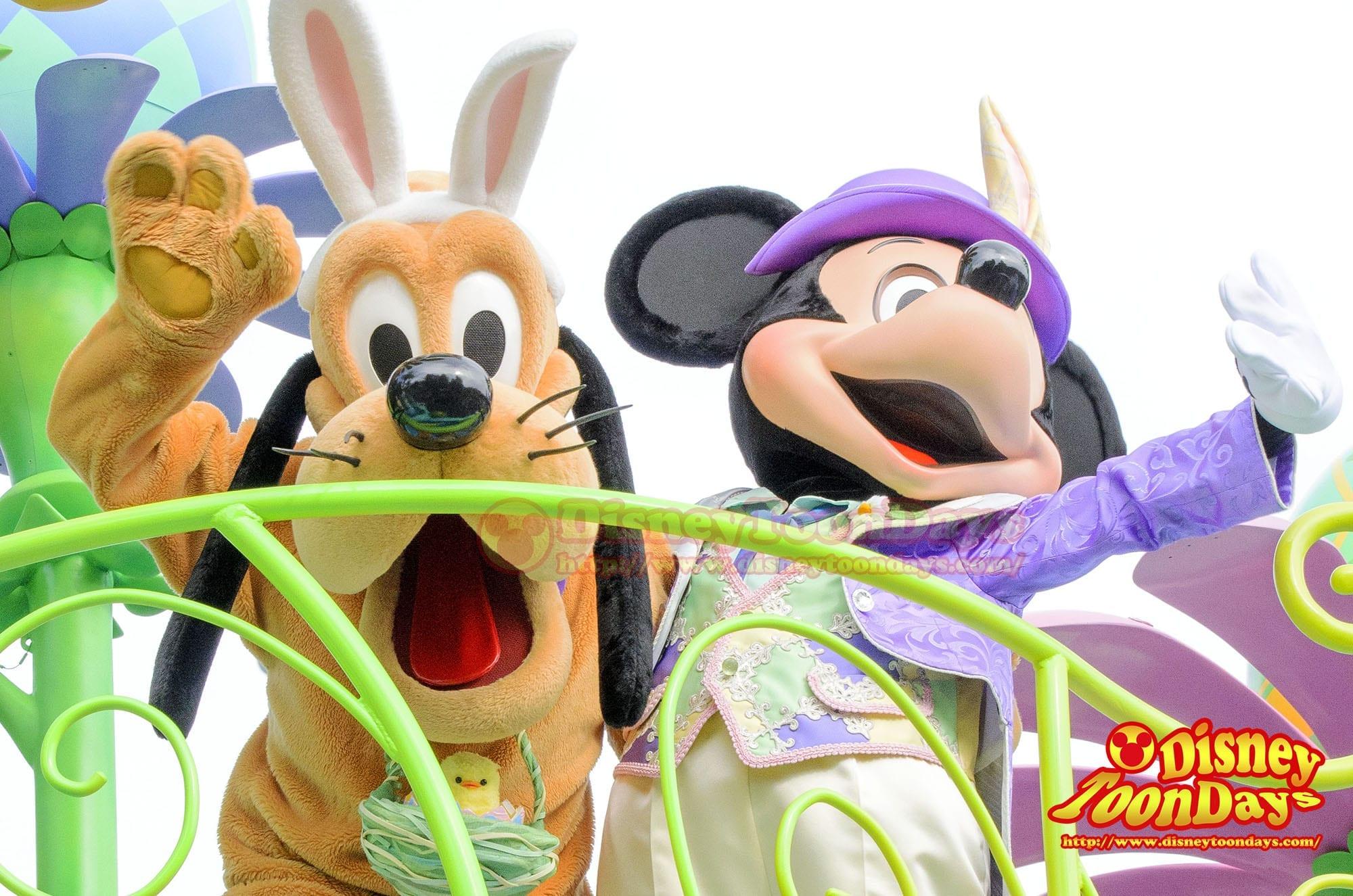 TDL ディズニー・イースター 2014 ヒッピティ・ホッピティ・スプリングタイム ミッキーマウス プルート