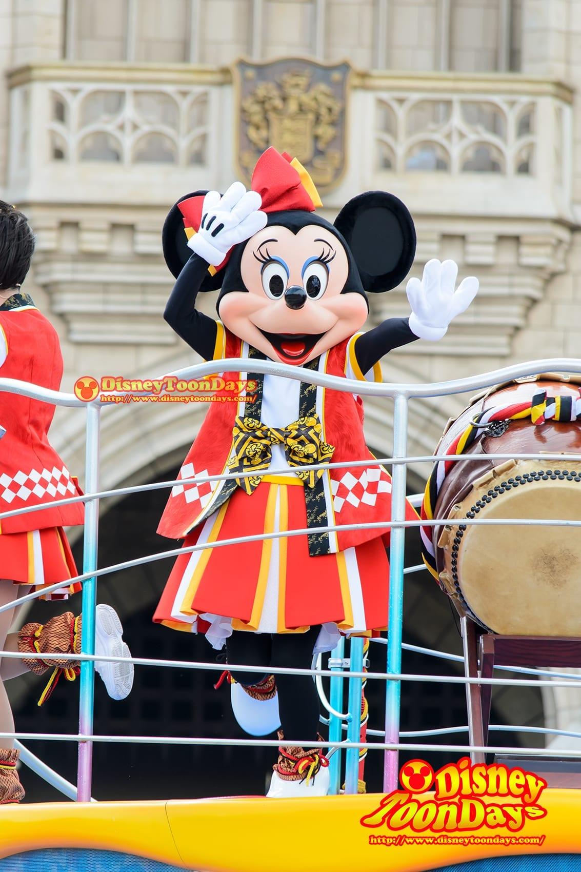 TDL ディズニー夏祭り 2014 おんどこどん ミニーマウス