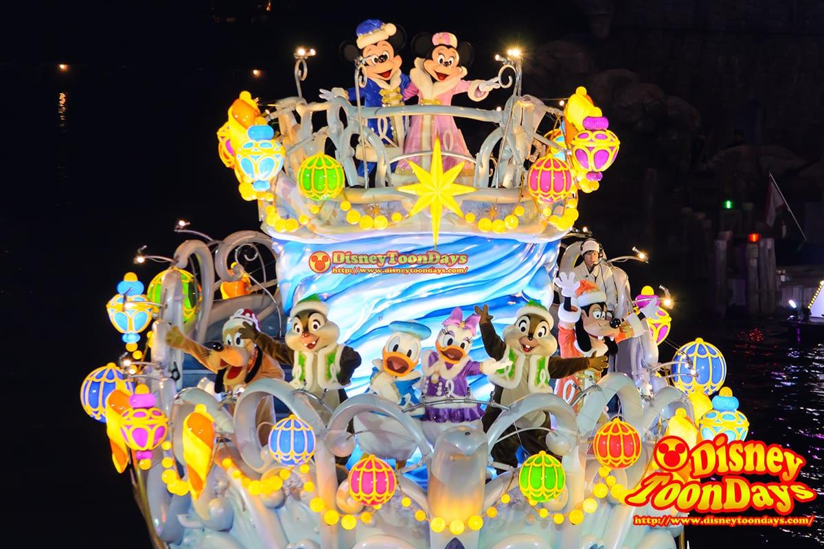 TDS クリスマスウィッシュ 2014 カラーオブクリスマス メディテレーニアンハーバー ミッキーマウス ミニーマウス ドナルドダック デイジーダック チップ デール グーフィー プルート