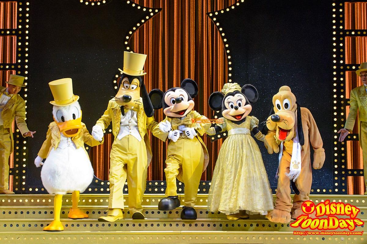 HKDL ゴールデンミッキー ドナルドダック グーフィー ミッキーマウス ミニーマウス ミニーマウス プルート