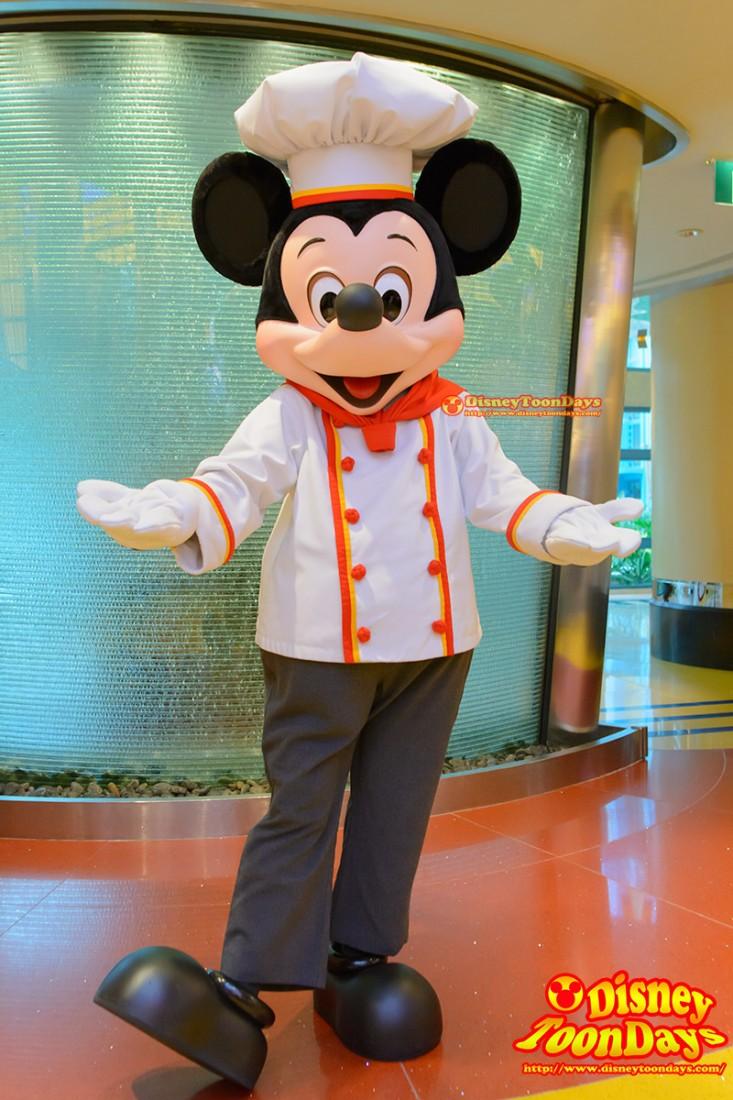 HKDL シェフミッキー グリーティング ミッキーマウス