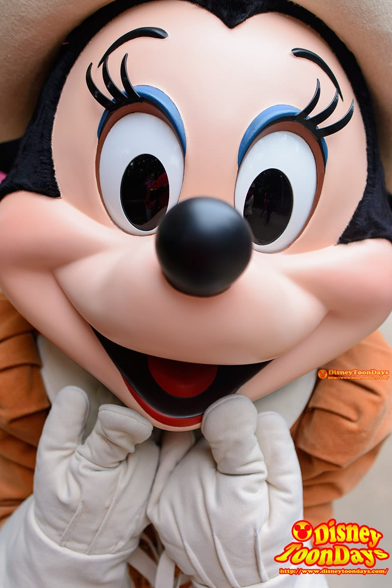 HKDL グリズリーガルチ グリーティング ミニーマウス