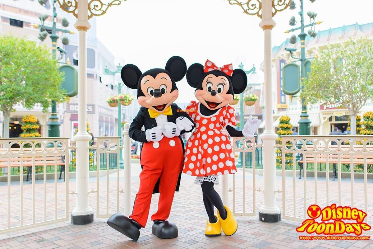 HKDL メインストリートUSA グリーティング ミッキーマウス ミニーマウス