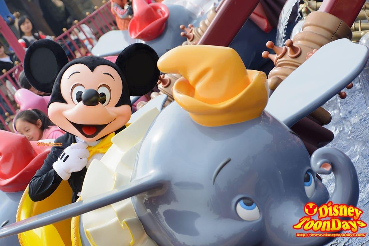 HKDL ファンタジーランド ダンボ・ザ・フライング・エレファント ミッキーマウス