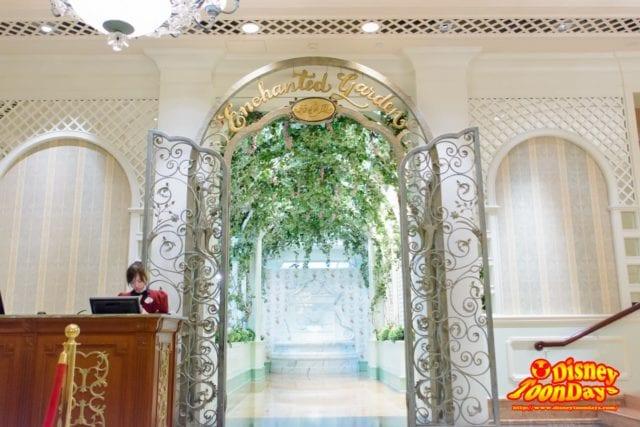 香港ディズニーランドホテルのエンチャンテッドガーデン
