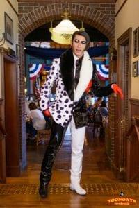 TDS ディズニー・ハロウィーン 2015 アメリカンウォーターフロント セイリングデイ・ブッフェ グリーティング ミスター・ダルメシア (5)
