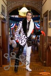 TDS ディズニー・ハロウィーン 2015 アメリカンウォーターフロント セイリングデイ・ブッフェ グリーティング ミスター・ダルメシア (4)