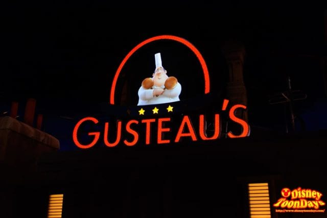 グストーのレストランの看板