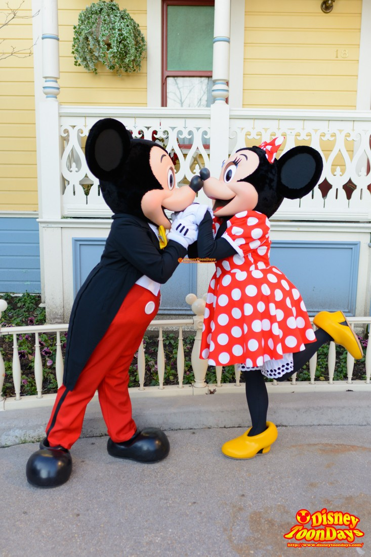 DLP ディズニーランドパリ メインストリートUSA グリーティング ミッキーマウス ミニーマウス