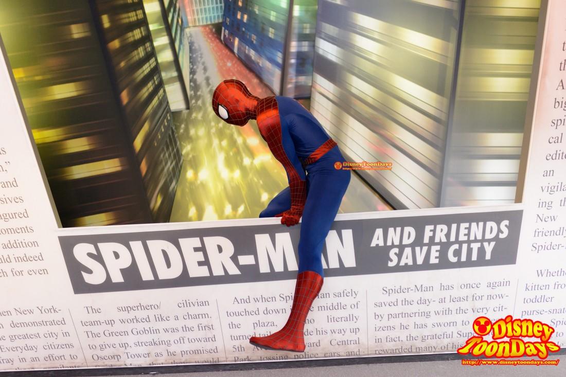 DLP ウォルトディズニースタジオ バックロット グリーティング スパイダーマン