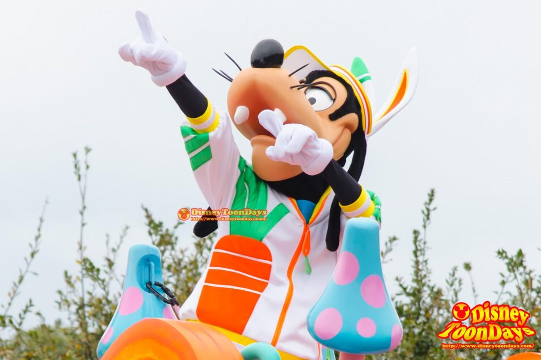 TDL ディズニー・イースター 2014 ヒッピティ・ホッピティ・スプリングタイム グーフィー
