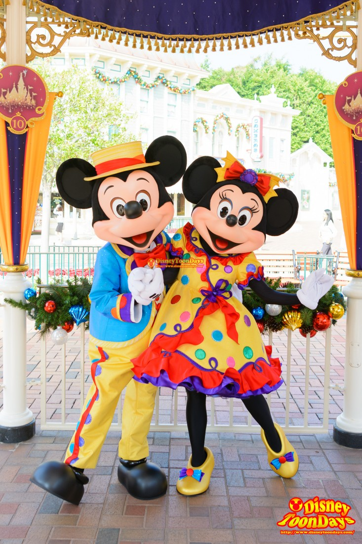 HKDL 10th Happily Ever after 2015 10周年限定 グリーティング ミッキーマウス ミニーマウス