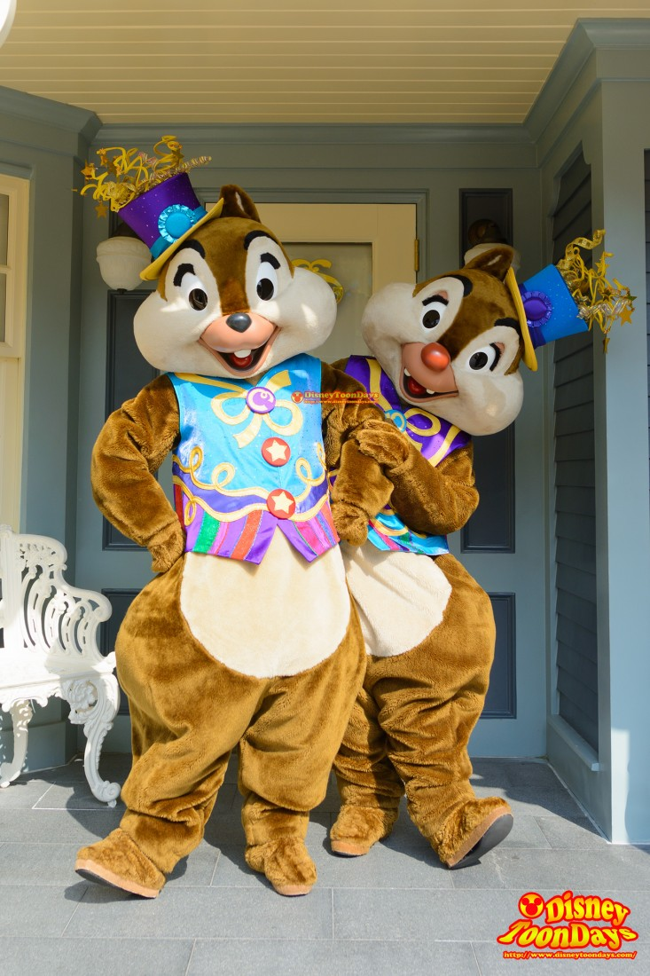 HKDL 10th Happily Ever after 2015 10周年限定 グリーティング チップ デール