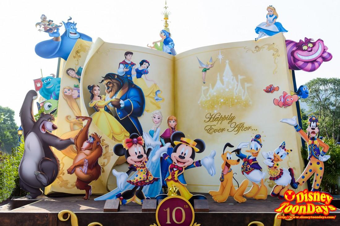 香港ディズニーランドの絵本のフォトロケーション