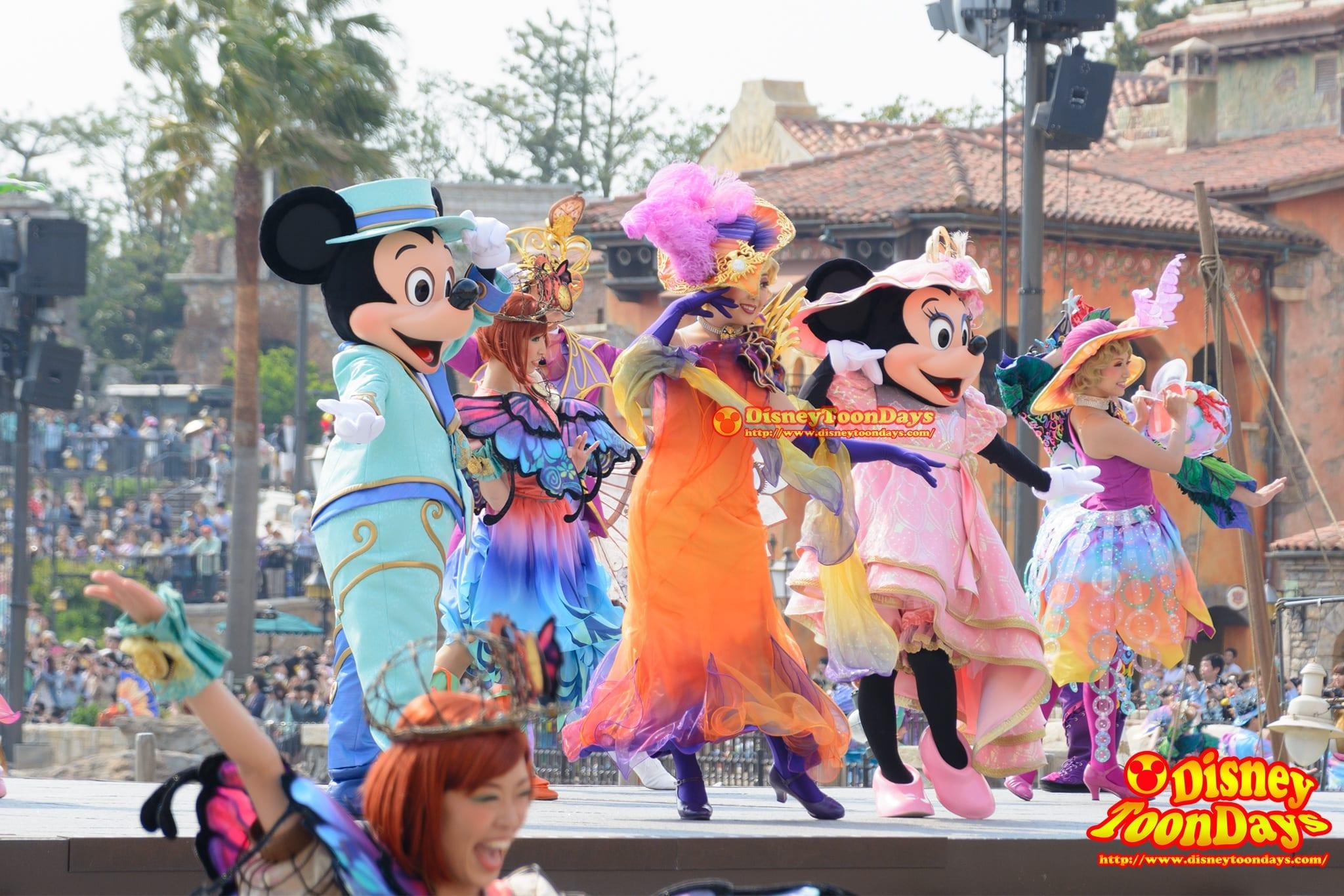 TDS 2015 メディテレーニアンハーバー ディズニー・イースター ファッショナブル・イースター ミッキーマウス ミニーマウス グローリエ・デ・モード