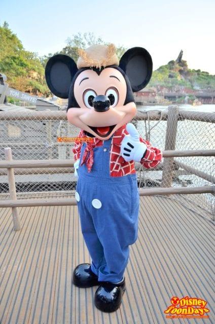 ウエスタンランド『フリーグリーティング』のミッキーマウス
