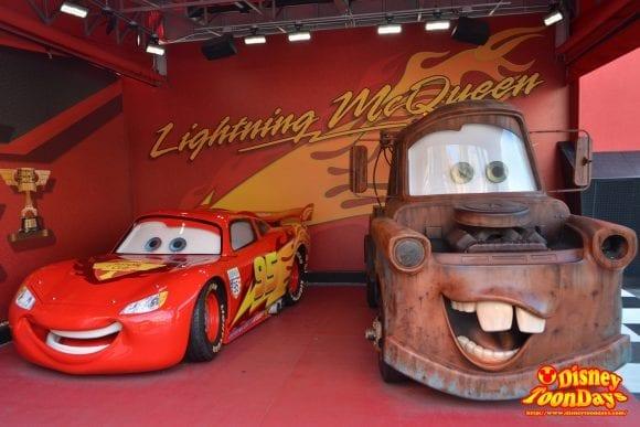 WDW ディズニーハリウッドスタジオ ストリーツオブアメリカ グリーティング ライトニングマックィーン メーター