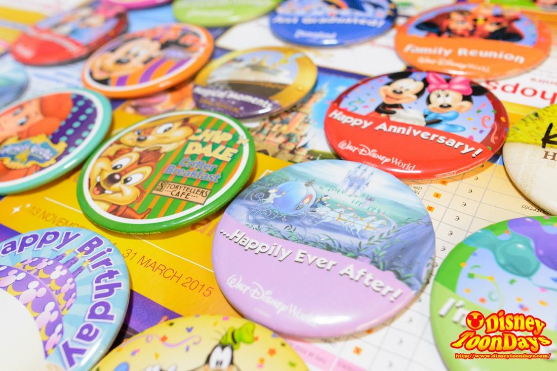 ディズニーパークで配られているボタン