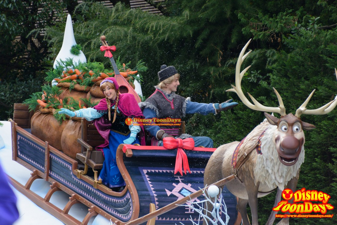 TDL アナとエルサのフローズンファンタジー 2016 フローズンファンタジーパレード アナ クリストフ