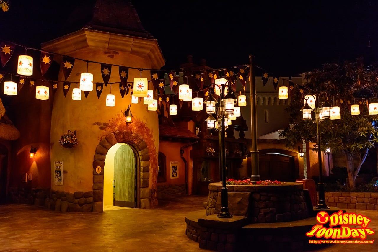 WDW マジックキングダム 塔の上のラプンツェルエリア 夜景