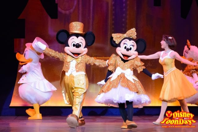 TDS アメリカンウォーターフロント ブロードウェイミュージックシアター パークファンパーティー ミッキーマウス ミニーマウス