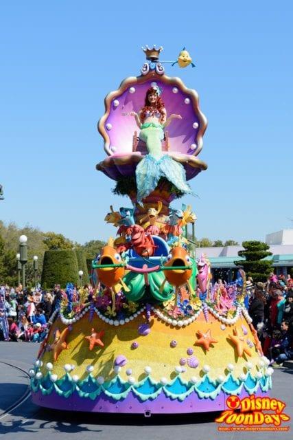 WDW マジックキングダム フェスティバル・オブ・ファンタジー・パレード 「リトルマーメイド」ユニット