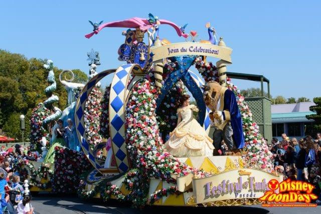 WDW マジックキングダム フェスティバル・オブ・ファンタジー・パレード プリンセス・ガーデン