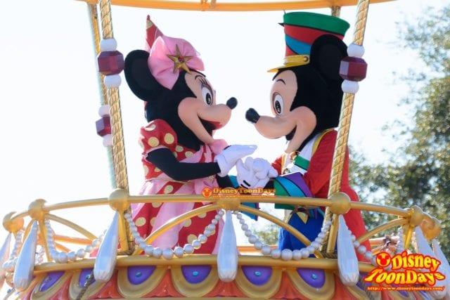 WDW マジックキングダム フェスティバル・オブ・ファンタジー・パレード ミッキーマウス ミニーマウス