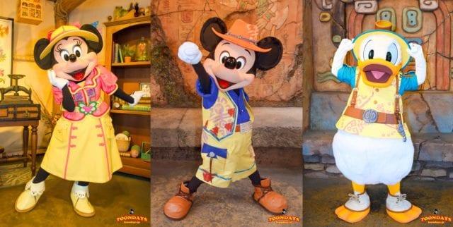 『ミッキー&フレンズ・グリーティングトレイル』で会えるミッキー、ミニー、ドナルド
