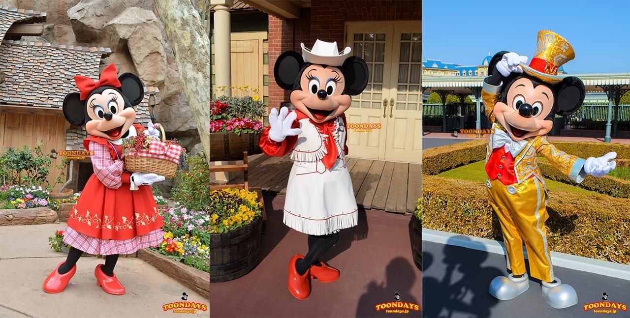 『期間限定グリーティング』では特別なコスのミッキーやミニーに会える!
