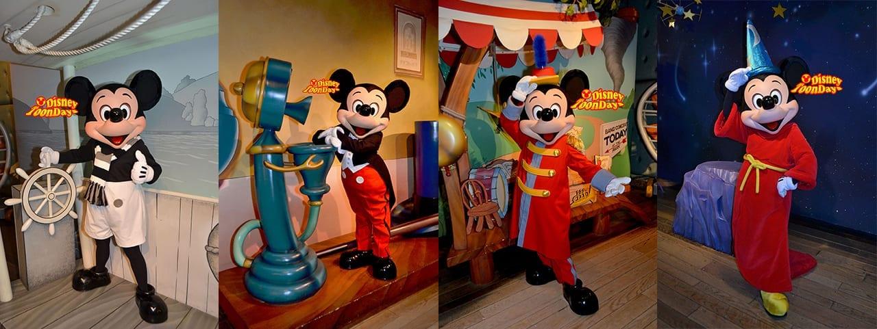トゥーンタウン『ミッキーの家とミート・ミッキー』で会える全ミッキーマウス