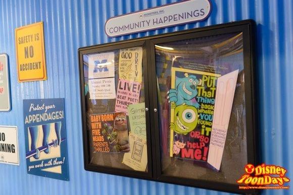 WDW ディズニーハリウッドスタジオ ストリート・オブ・アメリカ グリーティング モンスターズ・インク 掲示板