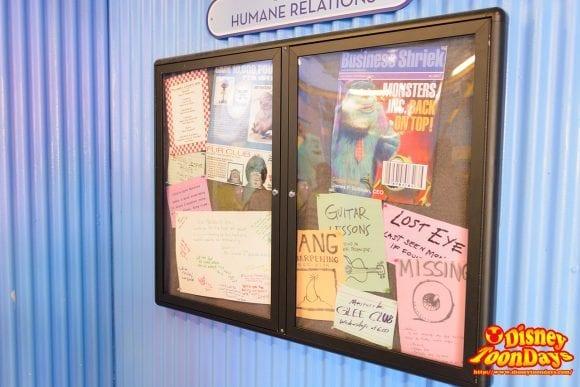 WDW ディズニーハリウッドスタジオ ストリート・オブ・アメリカ グリーティング モンスターズ・インク 掲示物