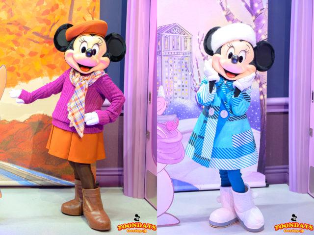 「ミニーのスタイルスタジオ」の四季で衣装が変わるミニーマウス