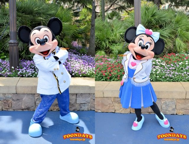 TDS『ディズニーシー・プラザ グリーティング』のミッキーマウスとミニーマウス