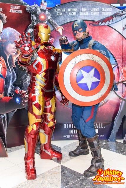 マーベルヒーローズフェスタ 2016 フォトシュティング グリーティング キャプテン・アメリカ アイアンマン