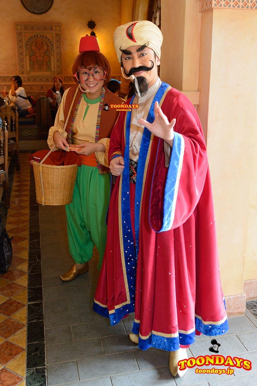 TDS ディズニー・ハロウィーン 2015 カスバ・フードコート グリーティング シャバーン アシーム